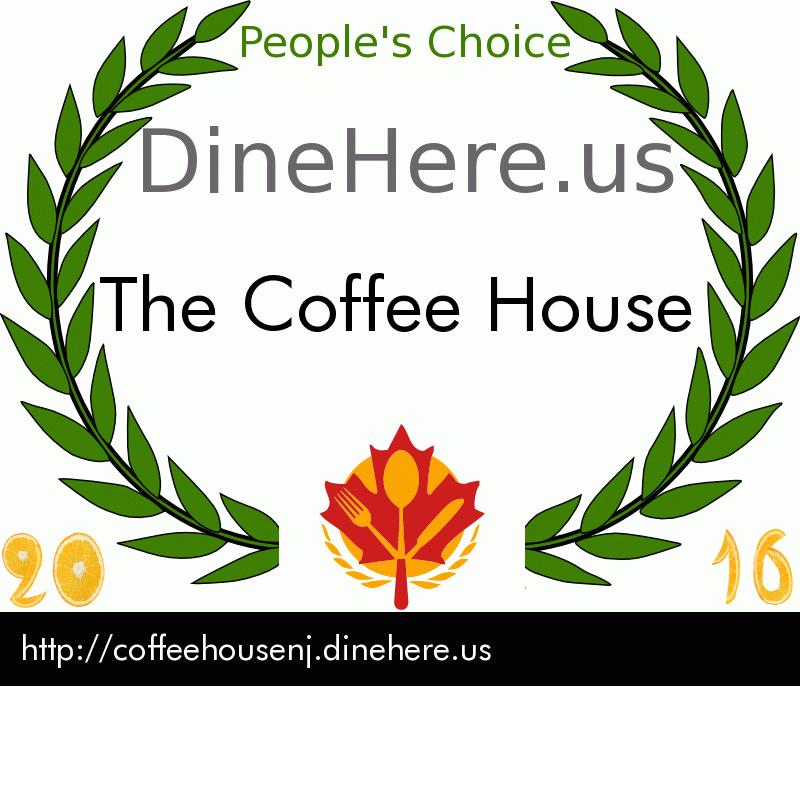 The Coffee House DineHere.us 2016 Award Winner